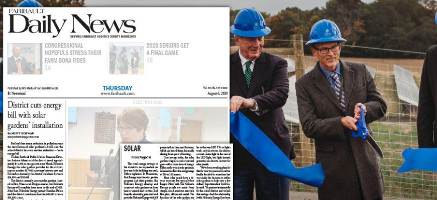 Faribault Public Schools starts saving from Community Solar – Faribault Daily News